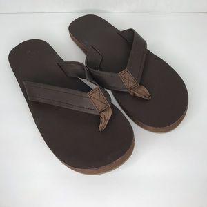 Vineyard Vines | Leather Flip Flop Brown Sandal